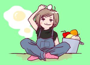 女の子と食べ物