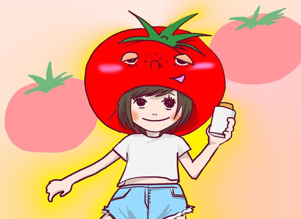 トマトと女の子